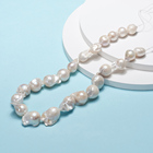 PandaHall White Color Cultured Natural Baroque Keshi Pearl Beads