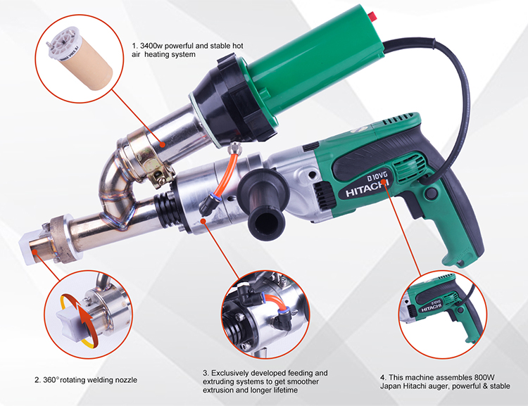 2020  hand extruder plastic HDPE pipe welding machine with two years warranty
