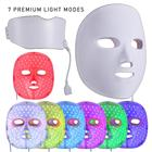 Facial Mask Neck Set LED 7 Color Photon Face Neck Mask Skin Therapy Care anti-acne anti-aging whitening