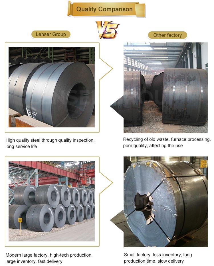 Hrc hr tiras de aço astm a36 q195 bobina de aço carbono laminadas a quente preto dimensões