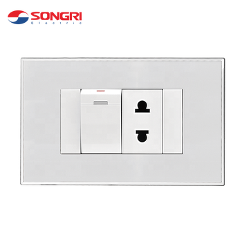 Songri 1 gang 1 way light switch wall switch socket