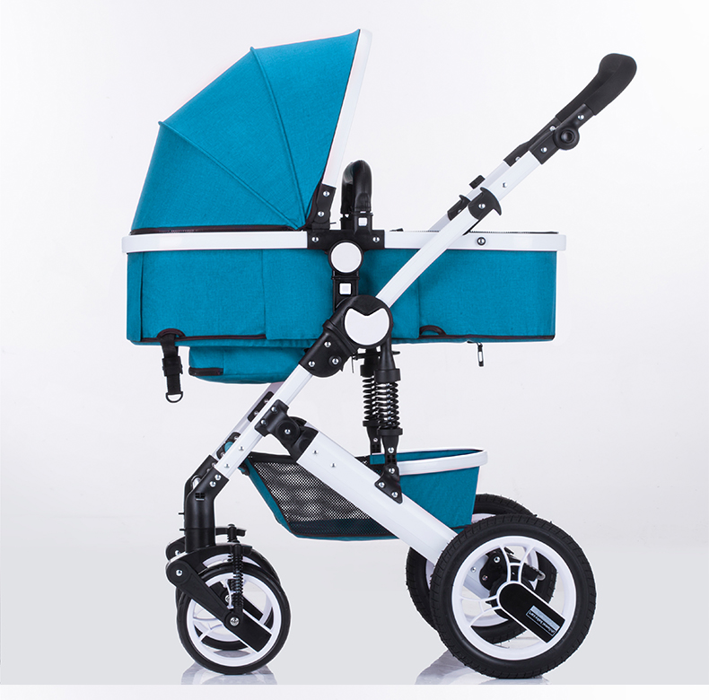 Yüksek kaliteli alüminyum metal çerçeve lüks çocuklar seyahat sistemi bebek arabası pram