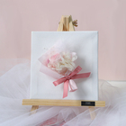 Decorative Flowers Wreaths Flower Office Decoration Pink Mini Bouquet Drawing Board Small Flower Bouquet