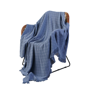 RAWHOUSE 100% Cotton warm soft knitted blanket sofa towels pure solid throws for home decor