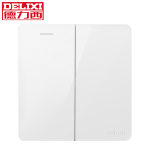 DELIXI 2 gang 1 way High Quality Indoor Wall Light Switch