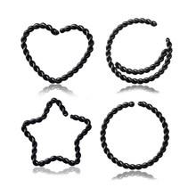 1 шт. медные кольца для ушей, набор носоупоров, перегородка, втулка, пирсинг, клипс, спираль, кольцо для Козелка, для женщин, ювелирные изделия ...(China)