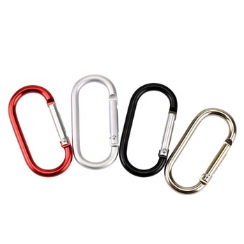 Aluminum oval carabiner colorful oval hook 5cm 6cm S shape carabiner