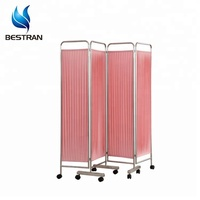BT-CP001 hospital room furniture 4 fold bed screen partition curtain room divider, privacy screen surgery screens