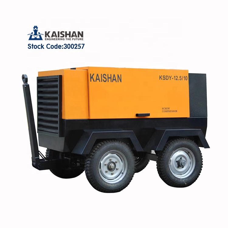 China Kaishan 490cfm 8 bar 75kw eléctrico neumática De aire del compresor De aire para hormigón proyectado minería plataforma De perforación