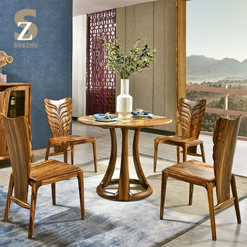 Modern Zingana Solid Wood Coffee Table Wooden Furniture Dining Set Product On Alibaba