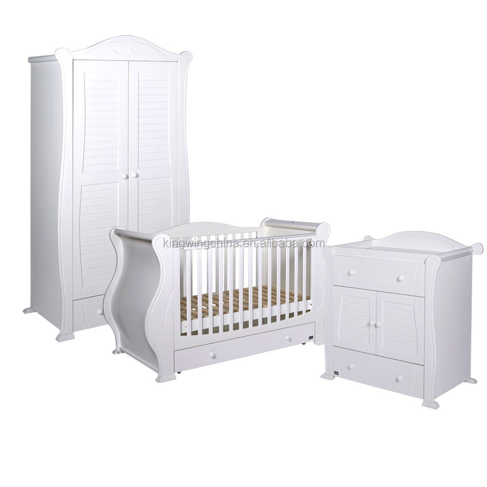 3 Pieces Kids Bedroom Furniture Set (baby Cot / Change Table / Wardrobe) -  Buy Bedroom Set,Antique Bedroom Furniture Sets,Baby Room Furniture Product  ...