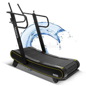 the treadmill,self-powered non-motorized curved air walker treadmill ,manual and slim running machine