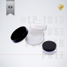 Private label empty small 30g plastic bottles jars pots with tight sealing caps for loose powder case