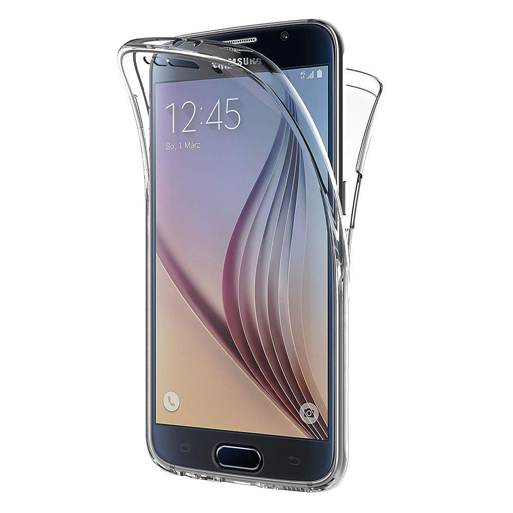 For <strong>Samsung</strong> Galaxy <strong>S6</strong> <strong>Edge</strong> Phone <strong>Case</strong>, 360 Degree Full Cover Soft Clear <strong>Case</strong> Shockproof Transparent Silicone Casing