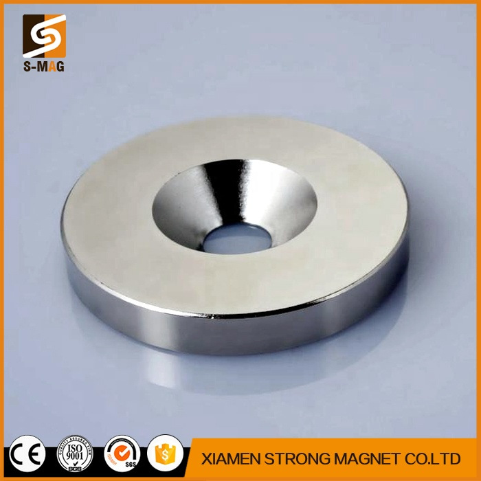 N35-N52 Disc D15mmxH5mm with 5mm Counetrsunk Hole Disk Strong Round Neodymium Magnets