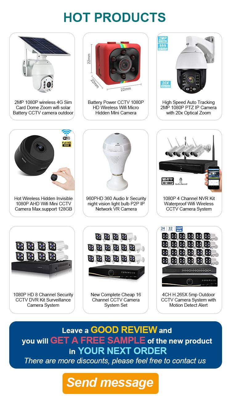 Nirkabel Wifi 4G Dome 2MP Solar Powered Keamanan Kamera Baterai CCTV Outdoor AHD 1080 P Ip Kamera
