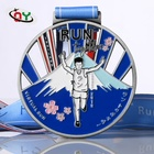 Wholesale Custom Design Your Gold Metal Award Marathon Running Sport Medals with Ribbon