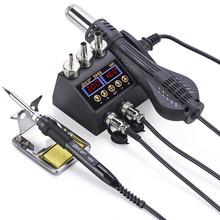 2 в 1 750 Вт пистолет горячего воздуха ЖК-цифровой дисплей сварочная паяльная станция для сотового телефона BGA SMD PCB IC ремонт JCD паяльник hairdry(Китай)