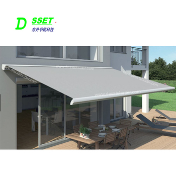 Aluminum Full Cassette Retractable Awnings For Home Sunshade