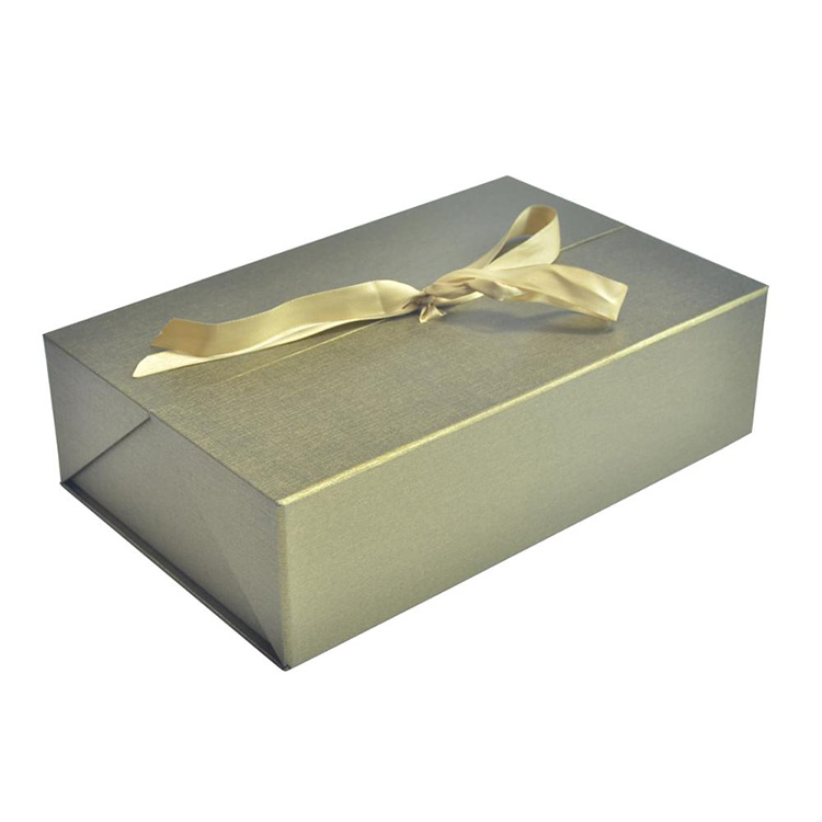 High Quality Luxury Antique Foldable Cardboard Paper Wine Bottle Gift Box With Ribbon Bowknot