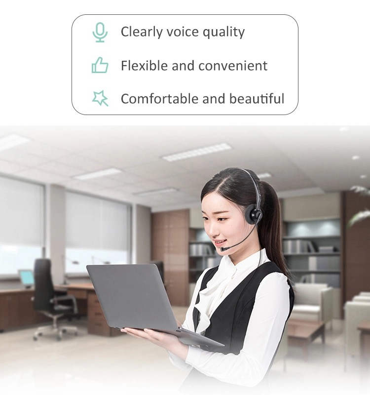 Professional Headphones Headset With Microphone For Office Use
