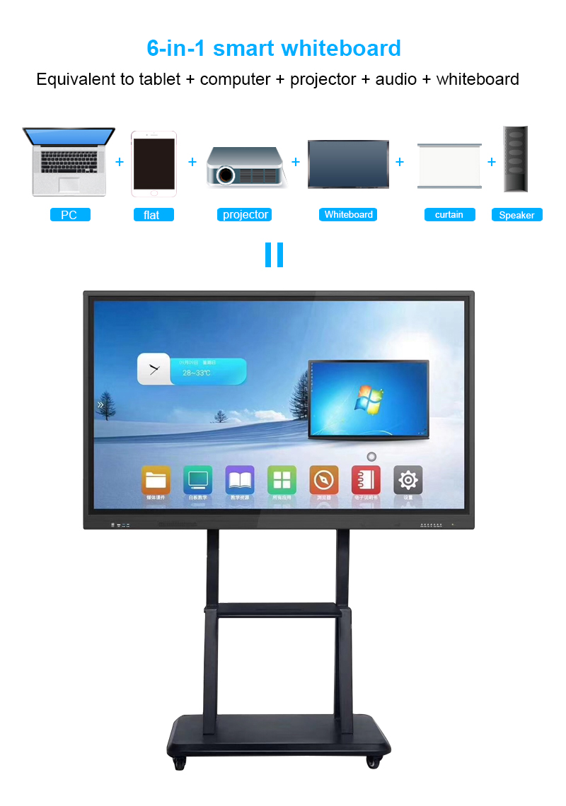 China OEM 10 point 55 Inch Multi Touch Led Display All In One Interactive Flat Panel