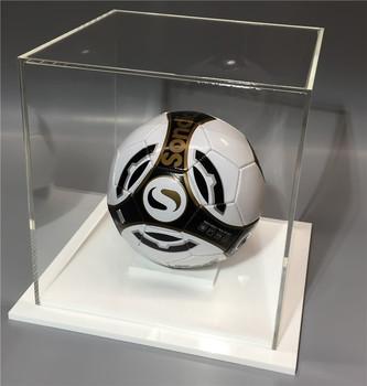 Display Cases Klare Fußball-Vitrine aus Acryl