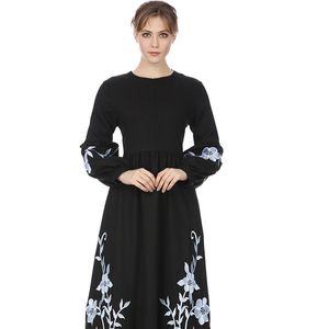 Discount season New Islamic Clothing Dubai Kaftan Embroidery White Muslim Dress Turkish Women Abaya
