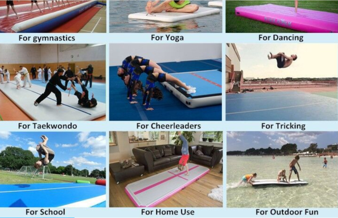Factory custom Cheap 3m 5m 6m 8m 10m 12m Inflatable Air Track For Sale in Gymnastics Air Track Training Strong Pvc Tumble Block