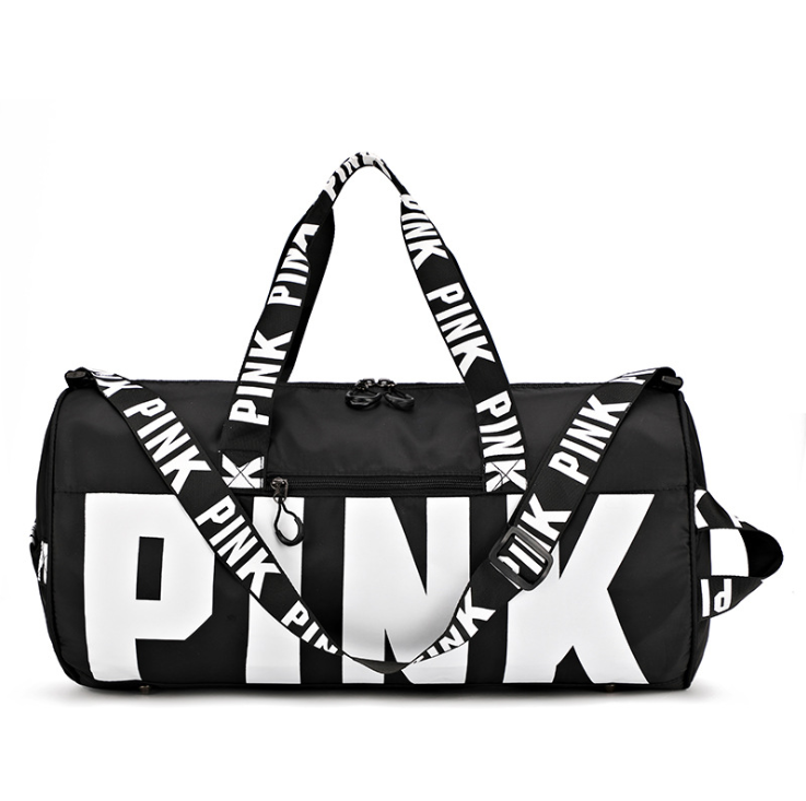 Custom Logo Waterproof Gym Bag Duffel Sports Bag Fitness Outdoor Travel Pink Women Handbag Large Capacity Storage Shoulder Bag