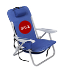 SALE Outdoor Stackable Steel Backpack Portable Folding Beach Camping Chair with Cup Holder