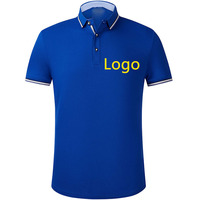 Custom 100% Polyester Embroidery Polo Shirt Embroidered Business Polo T-Shirt Uniform Breathable Workwear Polo Shirt