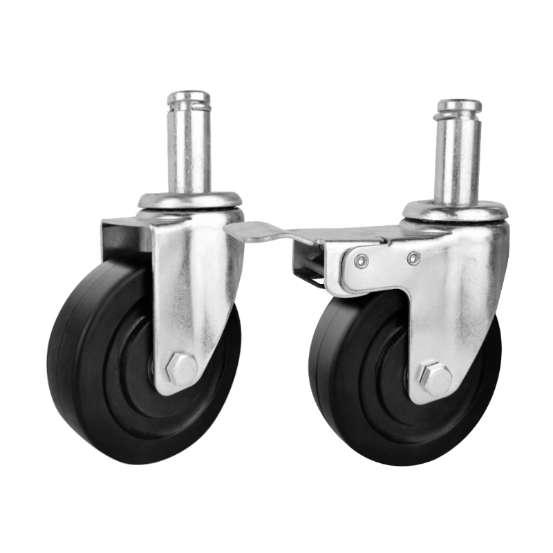 black rubber esd caster wheels swivel top plate antistatic caster Anti static caster of inserting pole