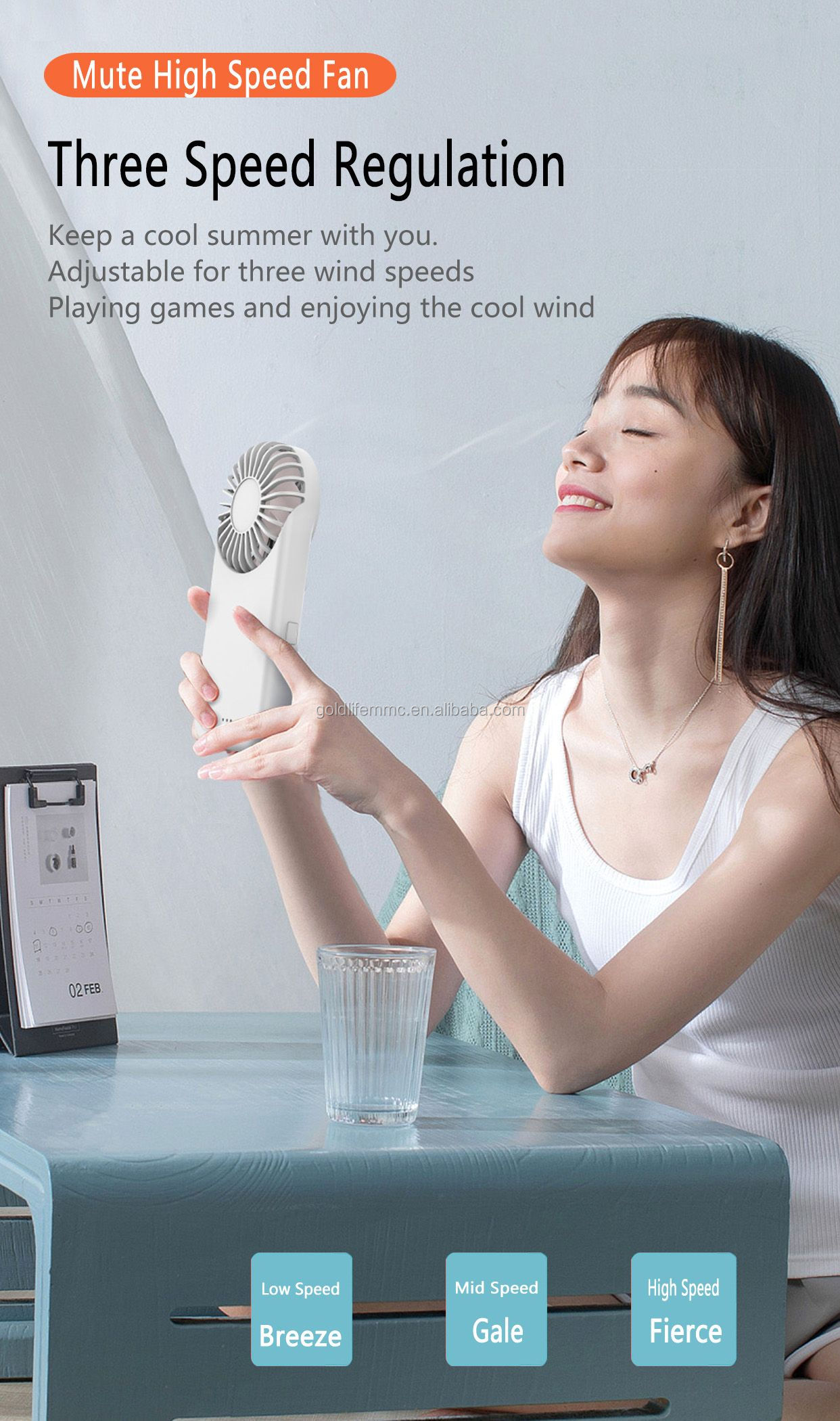 High Quality Usb Rechargeable Portable Personal Handheld Fan Mini With Game