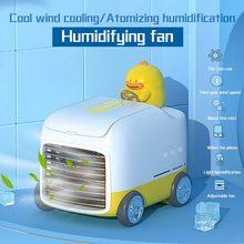 Портативный воздушный кулер вентилятор мини Мобильный кондиционер вентилятор для дома кулер-увлажнитель мини спрей бытовой кулер для авто...(Китай)