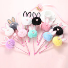 Creative Plush Gift Pen School Cute Kawaii Plush Rabbit Plastic Pen