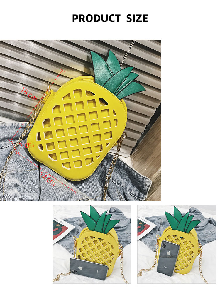 Women Bag Personalized Fashion Single Shoulder Bag Lovely Pineapple Chain Bag