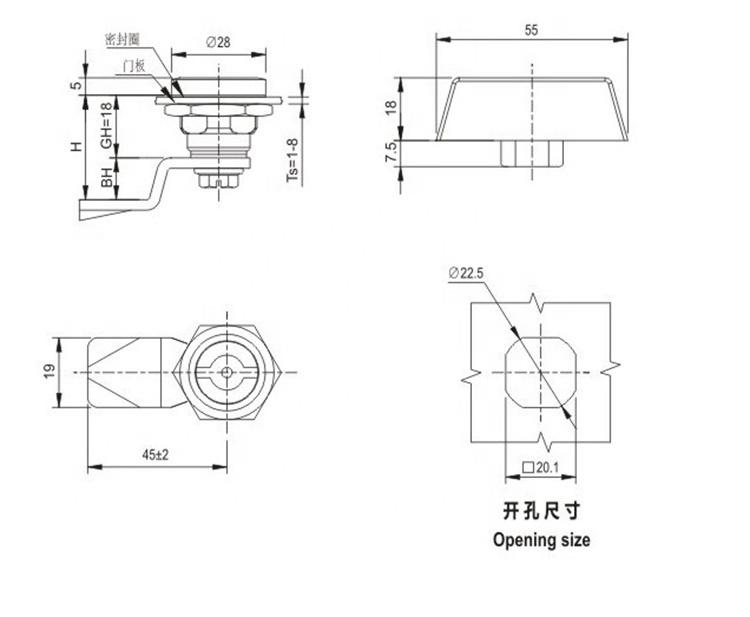 Factory Price Wholesale 32MM 28MM 23MM 16MM Tubular Cam Lock