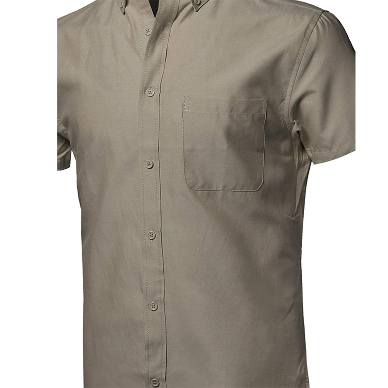 Men's 100% Cotton Summer Short-Sleeved Shirt Slim Business Shirt