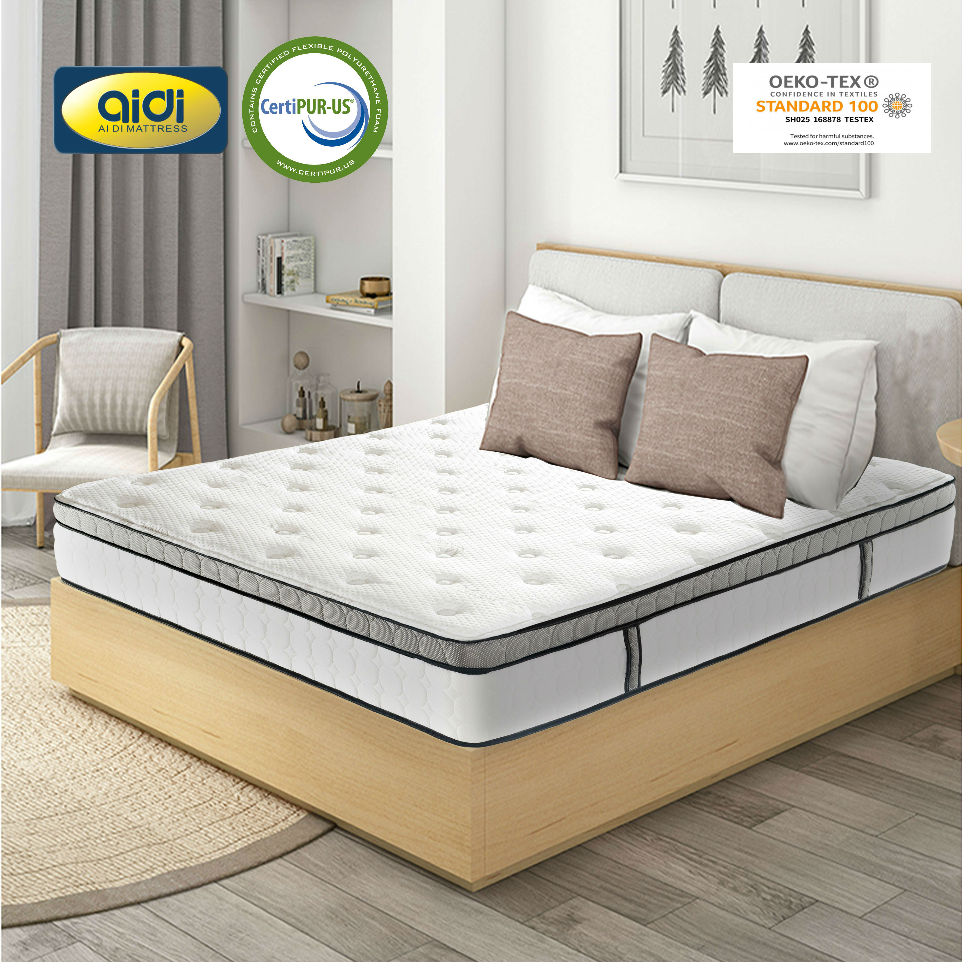 Picture of: Ai Di Euro Top Natural Latex Sleepwell Bed Mattress Sale Pocket Spring Memory Foam Mattress Price For Sale Online Buy Memory Foam Mattress Pocket Spring Mattress Roll Package Mattress Product On Alibaba Com