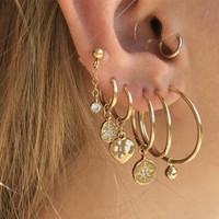 Fashion gold Clip Earrings For Women Wholesale N99126