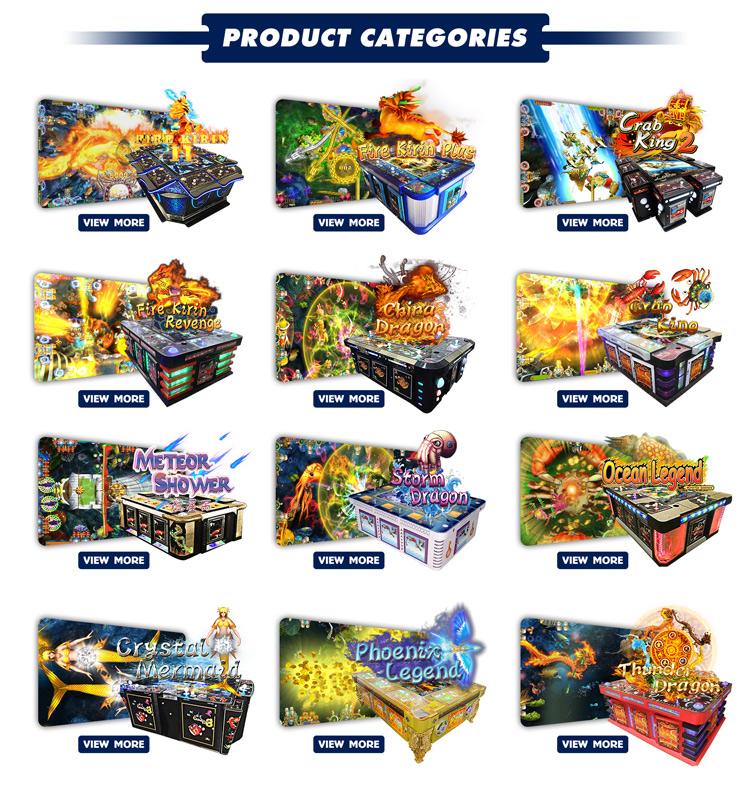 아케이드 게임 기계 카드 운영 동전 물고기 게임 10P 비디오 테이블