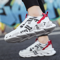 Cheap wholesale Autumn Low Lace-up Sports Shoes Light Breathable Men Running Shoes Trend White Men Shoes Non-slip Sneakers