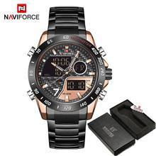 NAVIFORCE мужские цифровые часы, светодиодный, спортивные, военные, кварцевые, наручные часы, светящиеся, водонепроницаемые(Китай)