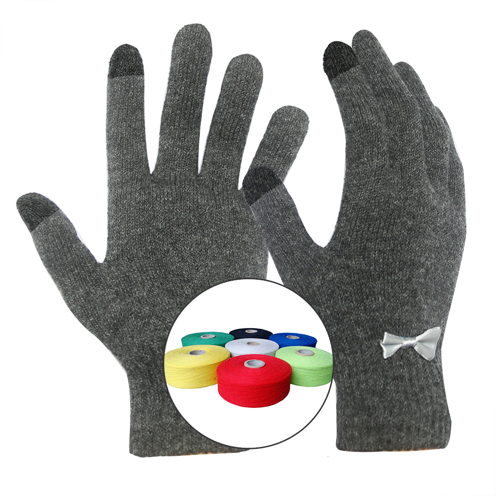 String Knit Magic Gloves with Touchscreen Fingertips