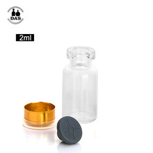Selbst Heilung Injektion Port 2ml <span class=keywords><strong>Glas</strong></span> Serum <span class=keywords><strong>Fläschchen</strong></span> Mit Dampf Engen Butyl Gummi Stopper