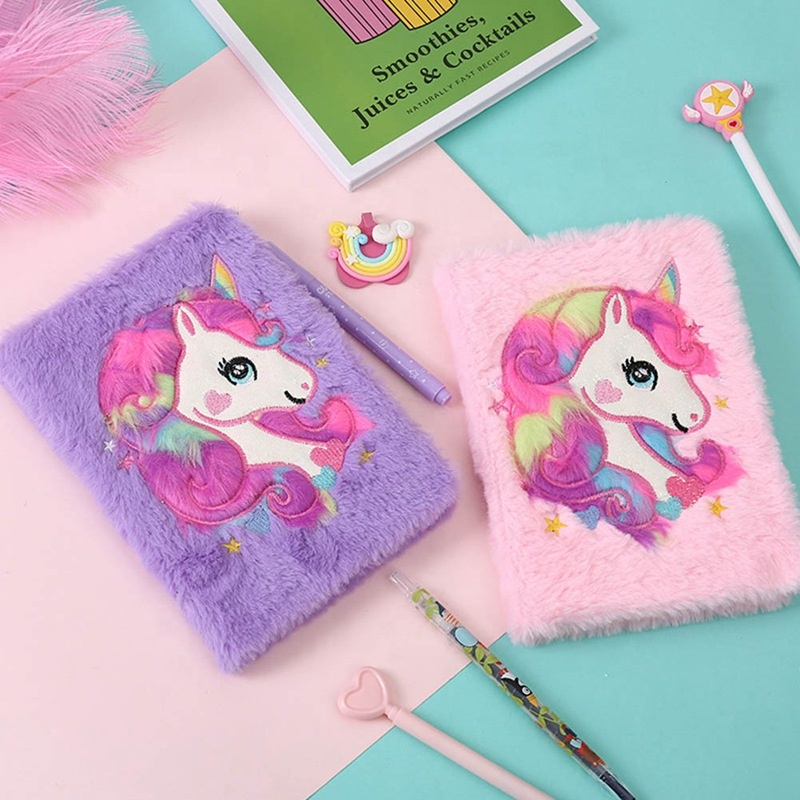 2020 new arrivals Customized 2019 Plush Diary Notebook / Cute Personalized Diary note book girls student notebook_note book