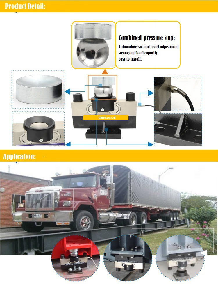 Electronic 20 Ton Weighbridges Sensor For Weighbridge 30ton Double Shear Beam Loadcell Truck Load Cell