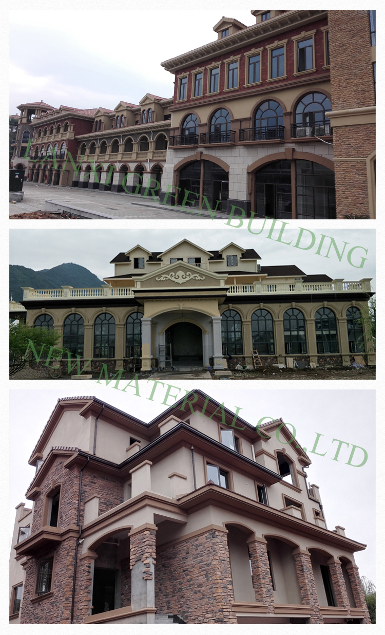 EPS Architectural Ornamental exterior foam mouldings Exterior Polystyrene