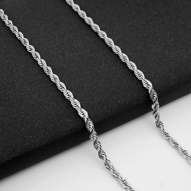 316 stainless steel titanium steel jewelry thick twist necklace chain